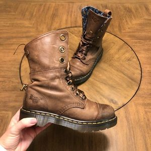 Dr. Marten's fold over high top boots
